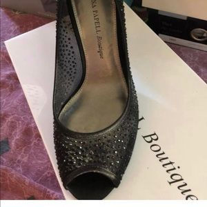 Adrianna papell boutique rhinestone shoes